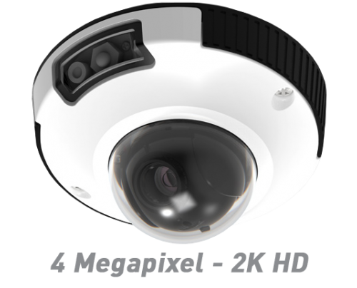 4MP IR Indoor/Outdoor IP Mini Dome Camera