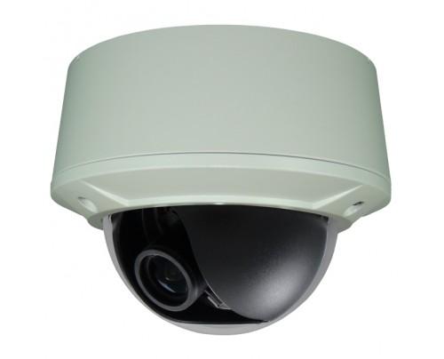 BNC Outdoor Vandal Dome Camera - P2 Sensor WDR 12VDC/24VAC