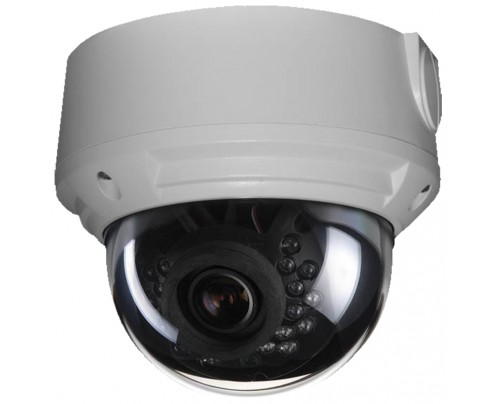 2MP IR Vandal Dome IP Camera with Motorized Optical Zoom & SmartMonitor™ Video Output