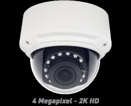 4MP IR Vandal Dome IP Camera with Motorized Optical Zoom & Autofocus