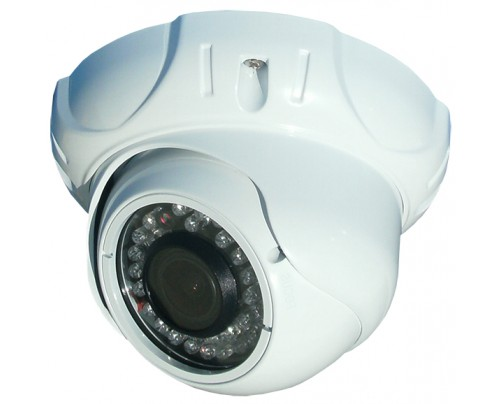 960H White Indoor IR Dome Camera