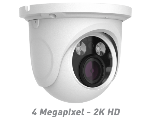 4 Megapixel - 2K HD IR Ball Dome IP Camera with Motorized Optical Zoom & Autofocus