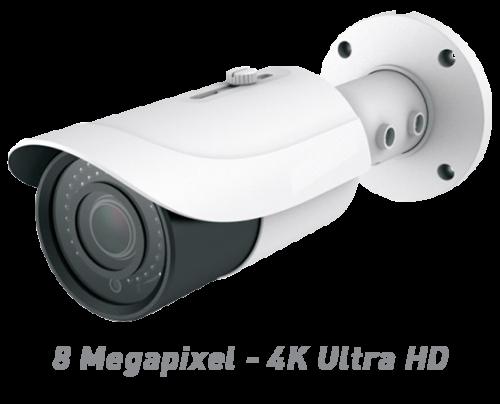 8 Megapixel - 4K Ultra HD IR Bullet IP Camera with Motorized Optical Zoom & Autofocus