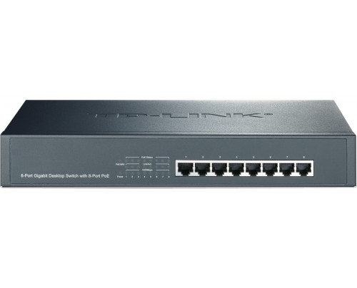 POE800-GIG124W 8 Channel Gigabit PoE Switch