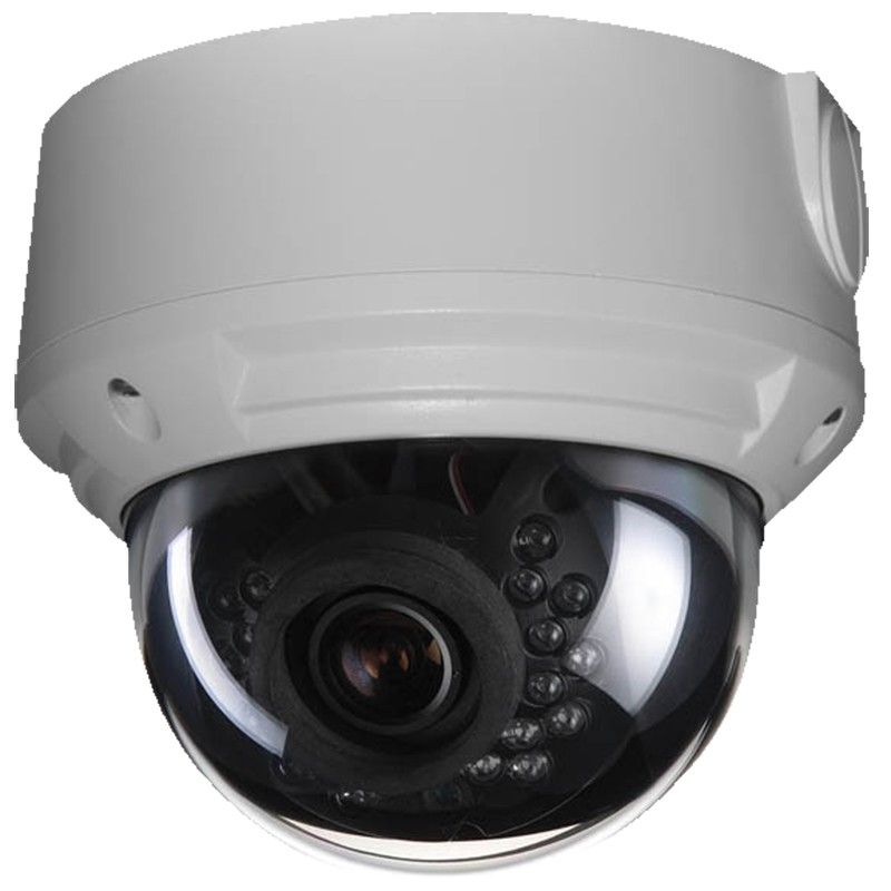 2MP IR Vandal Dome IP Camera with Motorized Optical Zoom