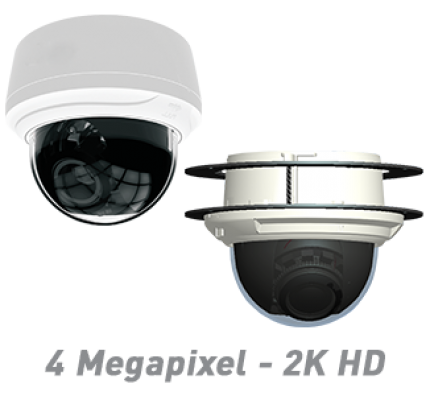 4MP Indoor Dome IP Camera with Motorized Optical Zoom & Autofocus