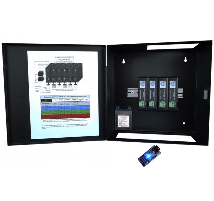 16 Channel SmartControl® CAT5 Decoder / Metal Enclosure