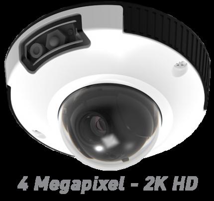 4MP IR Indoor/Outdoor IP Mini Dome Camera