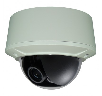 BNC Outdoor Vandal Dome Camera - P2 Sensor WDR 12VDC/24VAC