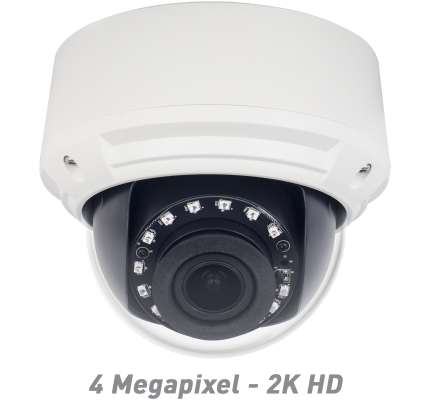 4MP IR Vandal Dome IP Camera with Motorized Optical Zoom & Autofocus