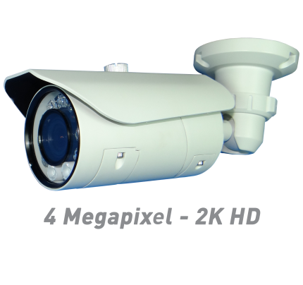4MP IR Bullet IP Camera with Motorized Optical Zoom & Autofocus